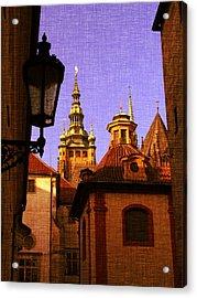 Mystery Prague Acrylic Print by Katerina Lesslerova