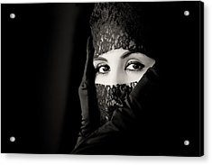Mystery That Is Woman Acrylic Print by Hugh Smith