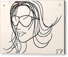 Mystery Woman Acrylic Print by Sotiris Filippou