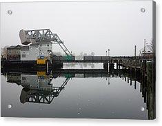 Acrylic Print featuring the photograph Mystic Ct Drawbridge by Kirkodd Photography Of New England