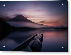 Mystic Fuji Acrylic Print by Gerald Macua