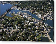 Mystic, Maine Acrylic Print by Dave Cleaveland