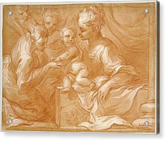 Mystic Marriage Of Saint Catherine Bartolomeo Biscaino Acrylic Print by Litz Collection