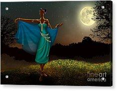Mystic Moonlight V1 Acrylic Print by Bedros Awak