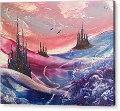 Mystic Mountain Acrylic Print by Moe Hussain