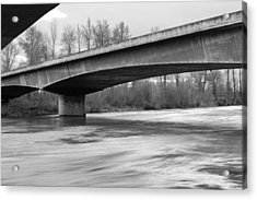 Mystic Rest Stop 2 Black And White Acrylic Print