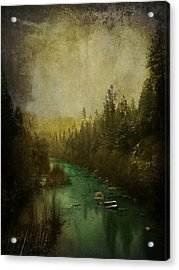 Mystic River Acrylic Print by Leah Moore