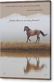 Mystical Beauty Inspirational Acrylic Print