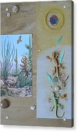 Mystical Desert  C Acrylic Print by Mary Ann  Leitch