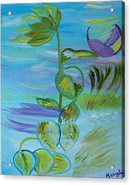Acrylic Print featuring the painting Mystical Moods by Meryl Goudey