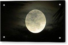 Mystical Moon Over Tampa Acrylic Print