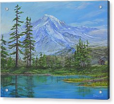 Mystical Mt. Rainier  Acrylic Print