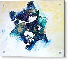 Mystical Star David Acrylic Print by Tonya Mower Zitman