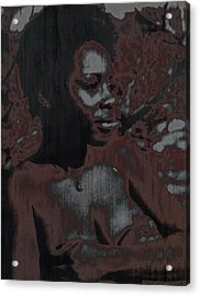 Mywoman Acrylic Print by Anthony Lewis