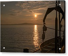 Sunset On Bar Harbor Acrylic Print by Pro Shutterblade