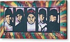 N W A Acrylic Print by Tony B Conscious