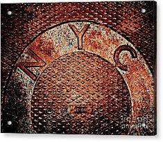 N Y C Acrylic Print by Ed Weidman