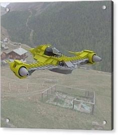 Naboo N1 In Flight Acrylic Print by John Hoagland