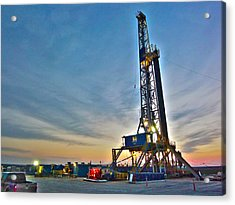 Acrylic Print featuring the photograph Nabors Rig In West Texas by Lanita Williams