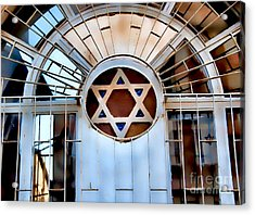 Nachlaot Synagogue Acrylic Print by Elena Comens