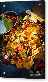 Nacho Basket With Cheese Acrylic Print by Elena Elisseeva