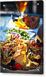 Nacho Plate And Appetizers Acrylic Print by Elena Elisseeva