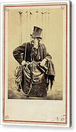 Nadar In The Gondola Of A Balloon 1863 Acrylic Print by Getty Research Institute
