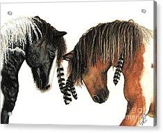 Mustang Series 37 Acrylic Print by AmyLyn Bihrle