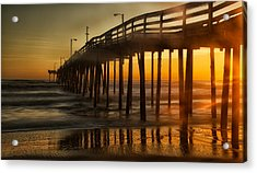 Nags Head Fishing Pier Acrylic Print
