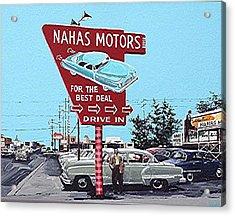 Nahas Motors Acrylic Print by Paul Guyer