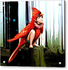 Naive Trickster Acrylic Print by Terre Britton