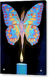 Acrylic Print featuring the painting Naked Butterfly Lady Transformation by Sue Halstenberg