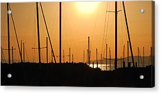 Naked Masts Acrylic Print