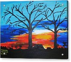 Naked Twin Sisters At Baoma Kpengeh Acrylic Print