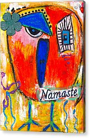 Namaste Birdie Acknowledges The Soul In You  Acrylic Print