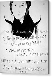 Nameless Acrylic Print by Corina Bishop