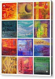 Names Of God Acrylic Print
