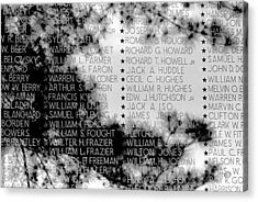 Names On The Wall Acrylic Print