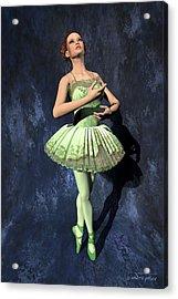 Nanashi - Ballerina Portrait Acrylic Print by Andre Price