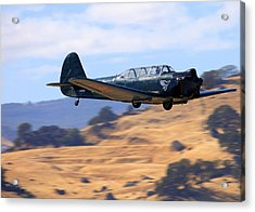 Acrylic Print featuring the photograph Nanchang China Cj-5 Fly-by N4366s by John King