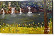 Nandroy Falls In Queensland Acrylic Print