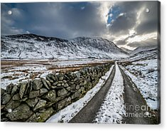 Nant Ffrancon Pass Acrylic Print by Adrian Evans