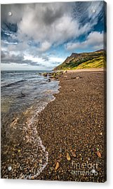 Nant Gwrtheyrn Shore Acrylic Print by Adrian Evans