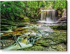 Nant Mill Waterfall Acrylic Print by Adrian Evans