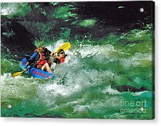 Nantahala Fun Acrylic Print by Don F  Bradford