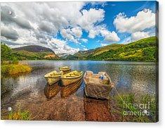 Nantlle Lake Acrylic Print by Adrian Evans