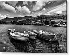 Nantlle Uchaf Boats Acrylic Print