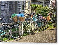 Nantucket Bikes Acrylic Print