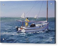 Nantucket Sound Catboat Acrylic Print by Karol Wyckoff
