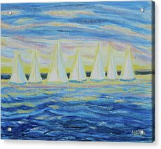 Acrylic Print featuring the painting Nantucket Sunrise by Diane Pape